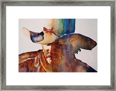Rainbow Cowboy Framed Print by Jani Freimann