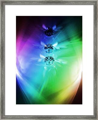 Rainbow Crystals Framed Print by Marianna Mills