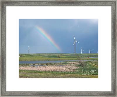 Rainbow Delight Framed Print by Angela Pelfrey