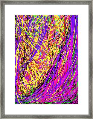 Rainbow Divine Fire Light Framed Print by Daina White