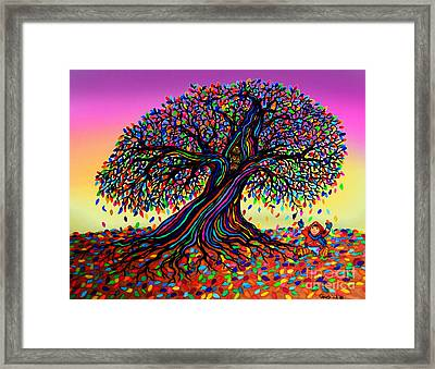 Rainbow Dreams And Falling Leaves Framed Print by Nick Gustafson