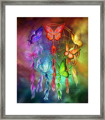 Rainbow Dreams Framed Print by Carol Cavalaris