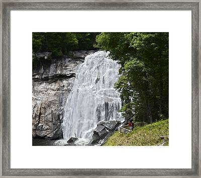 Rainbow Falls Framed Print by Susan Leggett
