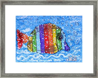 Rainbow Fish Framed Print by Kathy Marrs Chandler