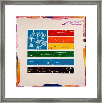 Rainbow Flag Framed Print by Mac Worthington