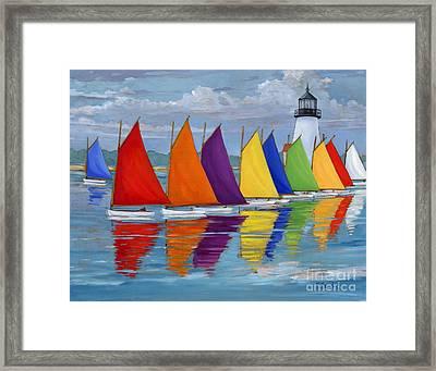 Rainbow Fleet Framed Print by Paul Brent