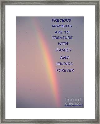 Rainbow Happiness Framed Print by Joseph Baril