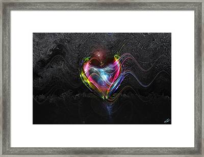 Rainbow Heart Framed Print by Linda Sannuti