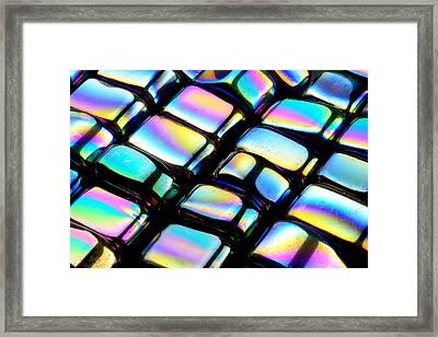 Rainbow Hematite Framed Print by Jim Hughes