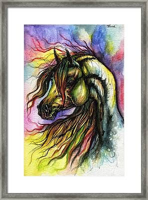 Rainbow Horse 2 Framed Print by Angel  Tarantella