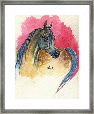 Rainbow Horse 2013 11 17 Framed Print by Angel  Tarantella
