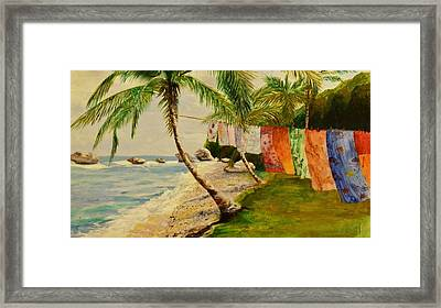 Rainbow In The Breeze Framed Print by Barbara Ebeling