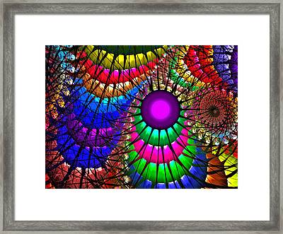 Rainbow Jungle Framed Print by Janet Russell