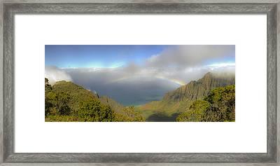 Rainbow Kalalau Valley Framed Print by Norman Blume