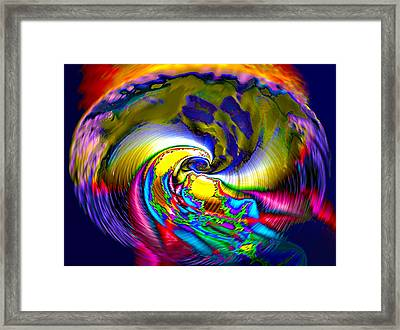 Rainbow Liberty V.6 Framed Print by Rebecca Phillips