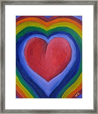 Rainbow Love Framed Print by Victoria Lakes