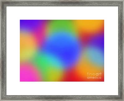 Rainbow Of Colors Framed Print by Gayle Price Thomas
