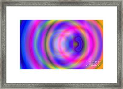 Rainbow Of Rings Framed Print by Christy Leigh