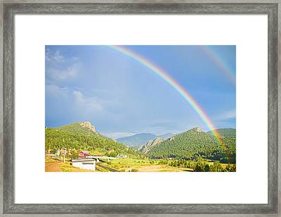 Rainbow Over Rollinsville Framed Print by James BO  Insogna