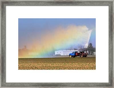Rainbow Framed Print by Rudy Umans