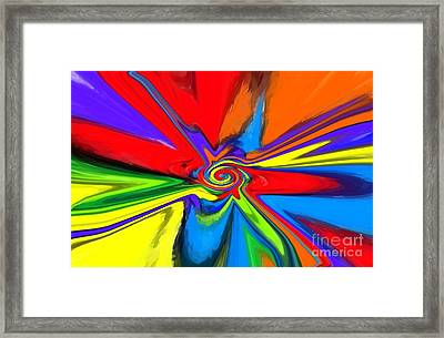Rainbow Time Warp Framed Print by Chris Butler