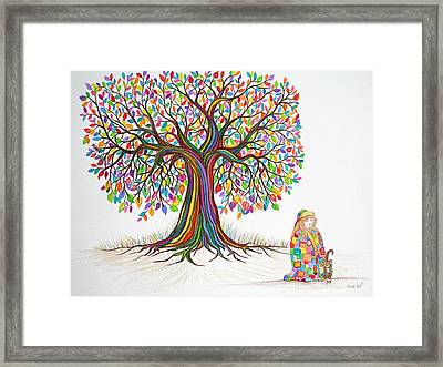 Rainbow Tree Dreams Framed Print by Nick Gustafson