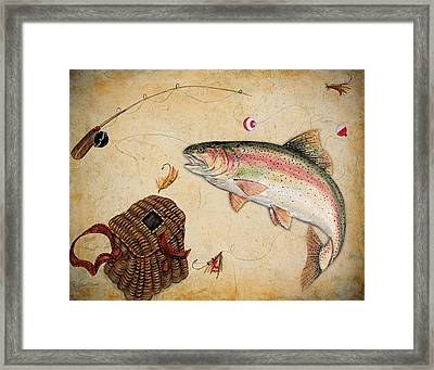 Rainbow Trout Framed Print by Jean Plout