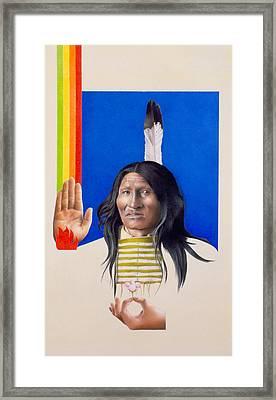 Rainbow Warrior Framed Print by David Holmes