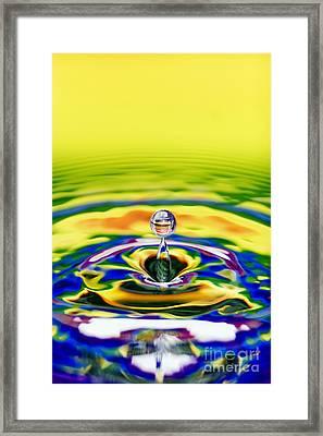 Rainbow Water Drop Framed Print by Tim Gainey