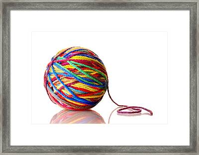 Rainbow Yarn Framed Print by Jim Hughes