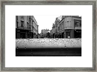 Raindrops Framed Print by Lucy D