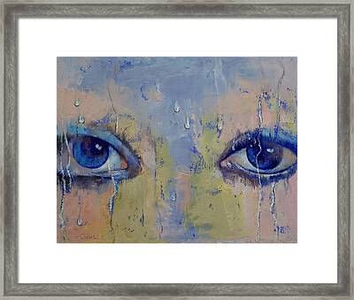 Raindrops Framed Print by Michael Creese