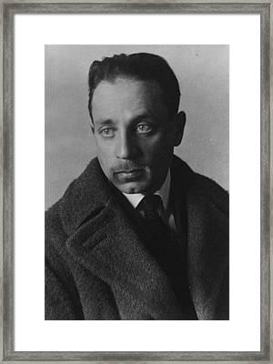 Rainer Maria Rilke Framed Print by German Photographer