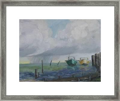Raining On St. George Framed Print by Susan Richardson