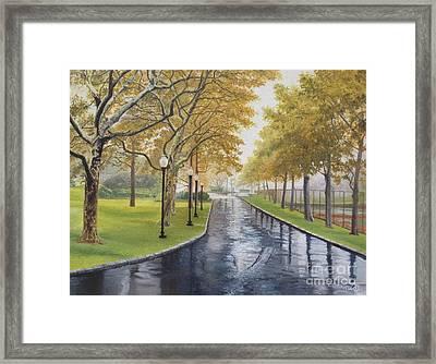 Rainy Afternoon At Montauk Framed Print by Barbara Barber