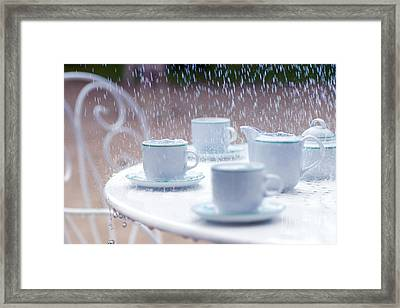 Rainy And Sad Afternoon Framed Print by Gregory DUBUS