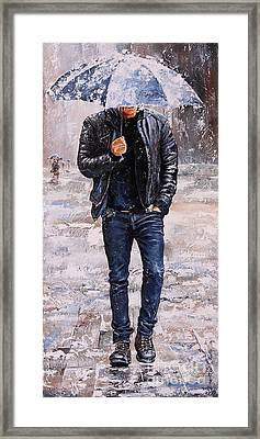 Rainy Day #23 Framed Print by Emerico Imre Toth