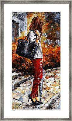 Rainy Day - After The Rain II Framed Print by Emerico Imre Toth