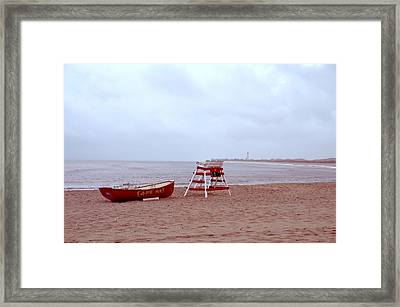 Rainy Day In Cape May Framed Print by Bill Cannon