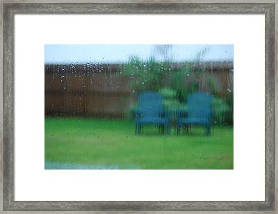 Rainy Day In Richmond Framed Print by Paulette B Wright