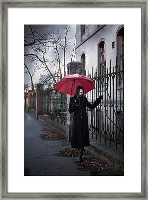 Rainy Day Framed Print by Cambion Art