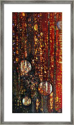 Rainy Downtown Street Framed Print by Cheryl Poulin