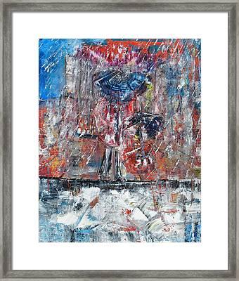 Rainy Framed Print by Evelina Popilian