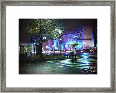 Rainy Night Blues Framed Print by Terry Rowe