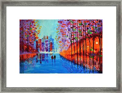 Rainy Nights Framed Print by Mariana Stauffer