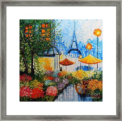 Joy In Paris Framed Print by Denisa Laura Doltu