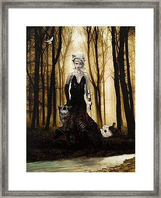 Raised By Wolves Framed Print by Vic Lee