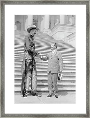 Ralph Madson And Us Senator Framed Print by Library Of Congress