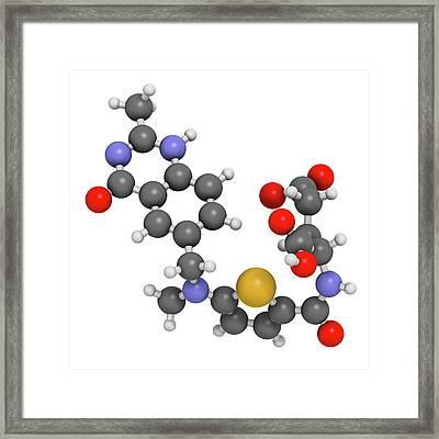 Raltitrexed Cancer Chemotherapy Drug Framed Print by Molekuul