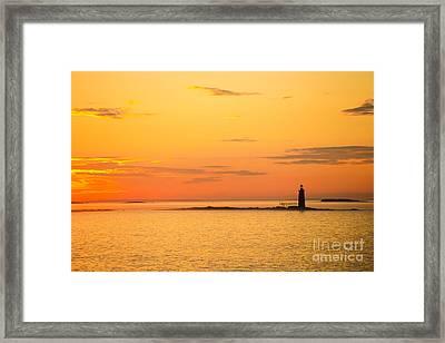 Ram Island Light Casco Bay Maine Framed Print by Diane Diederich
